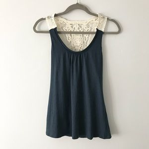 Banana Republic Lace Racerback Tank